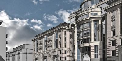 Малый проспект Петроградской стороны, 79-81-83, проект жилого дома, фасад