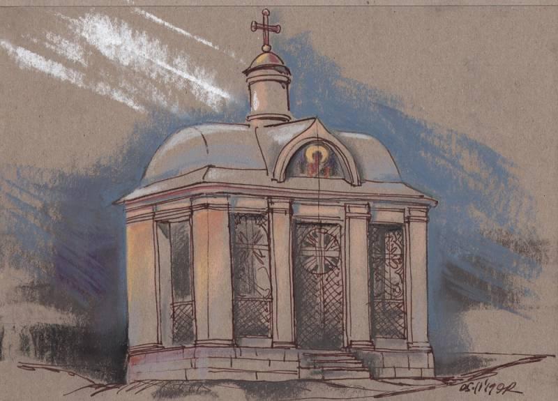 Митрофаньевское шоссе, склеп Митрофаньевского кладбища, проект восстановления