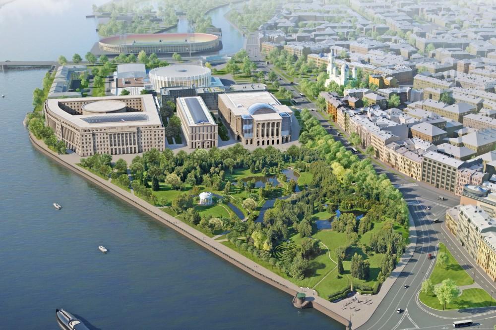 Проект комплекса Верховного суда на проспекте Добролюбова с парком