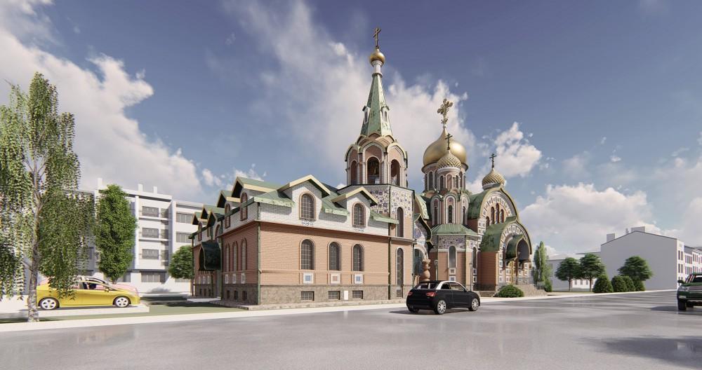 Проект Крестовоздвиженской церкви на Константиновском проспекте