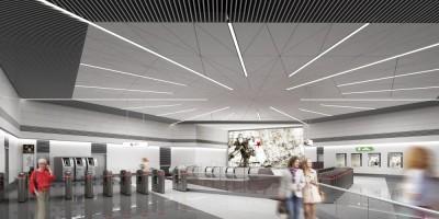 Станция метро Юго-западная, эскалаторный зал