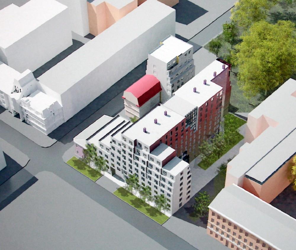 Воронежская улица, 45, проект гостиницы, вид сверху