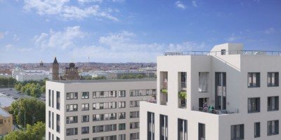 Измайловский бульвар, проект жилых домов, вид с верхних этажей
