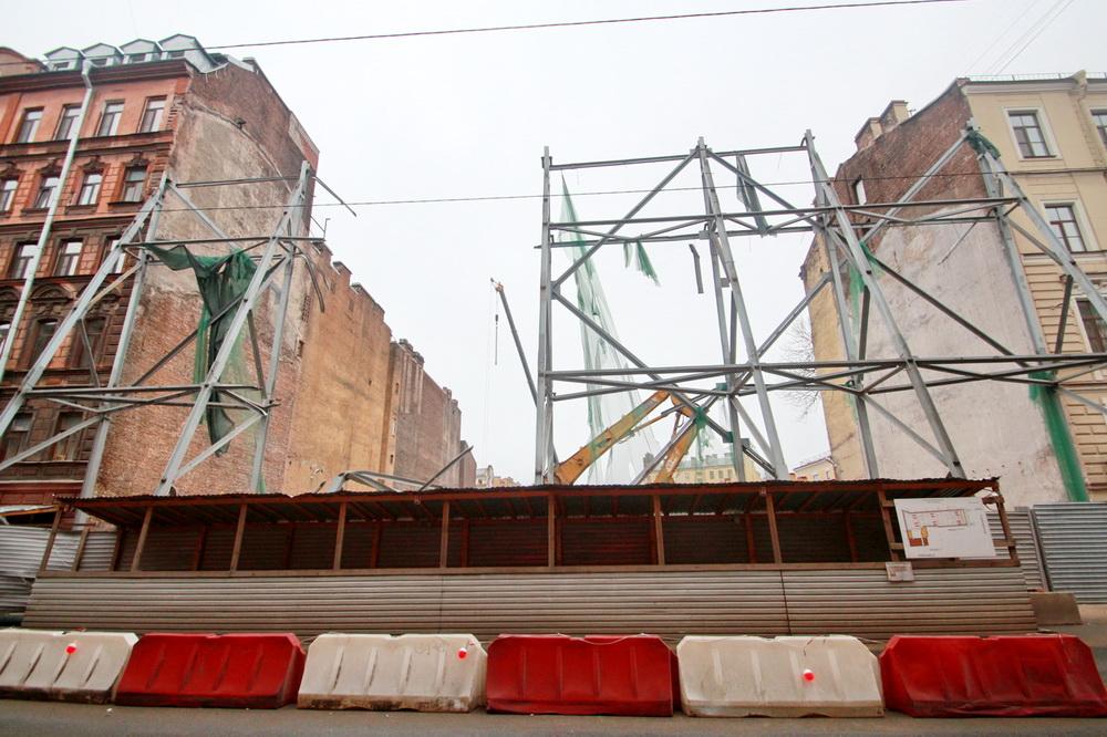 Бронницкая улица, фасад после сноса