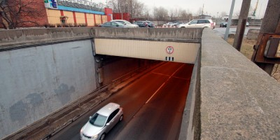 Канонерский тоннель, въезд