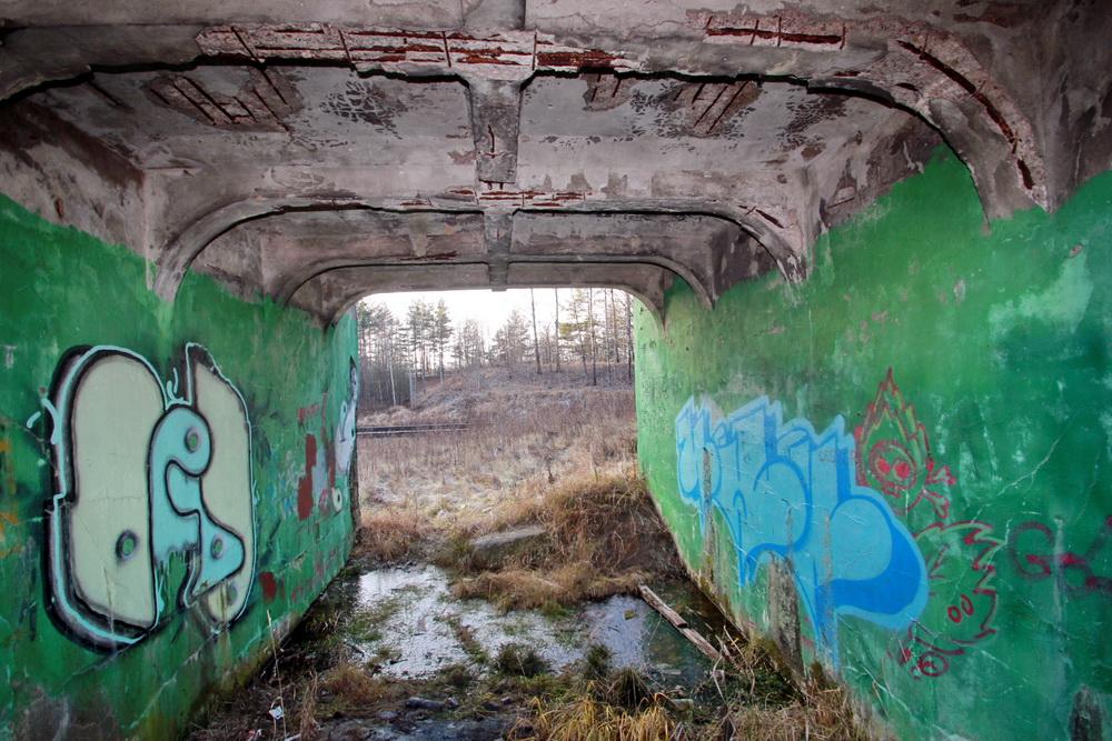 Ломоносов, путепровод, мост Оранэлы на улице Немкова, под мостом