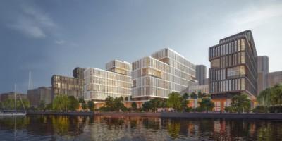 Приморский проспект, проект апарт-отеля, вид с воды