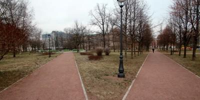 Выборгский сад, дорожки