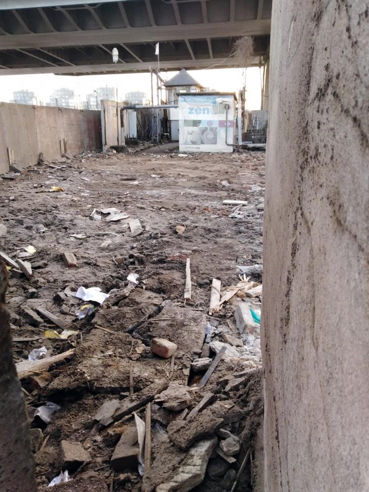 Дом на Петровском после сноса