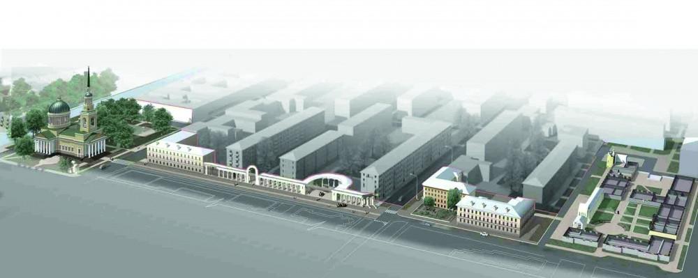 Кронштадт, проект пешеходной зоны на Андреевской улице