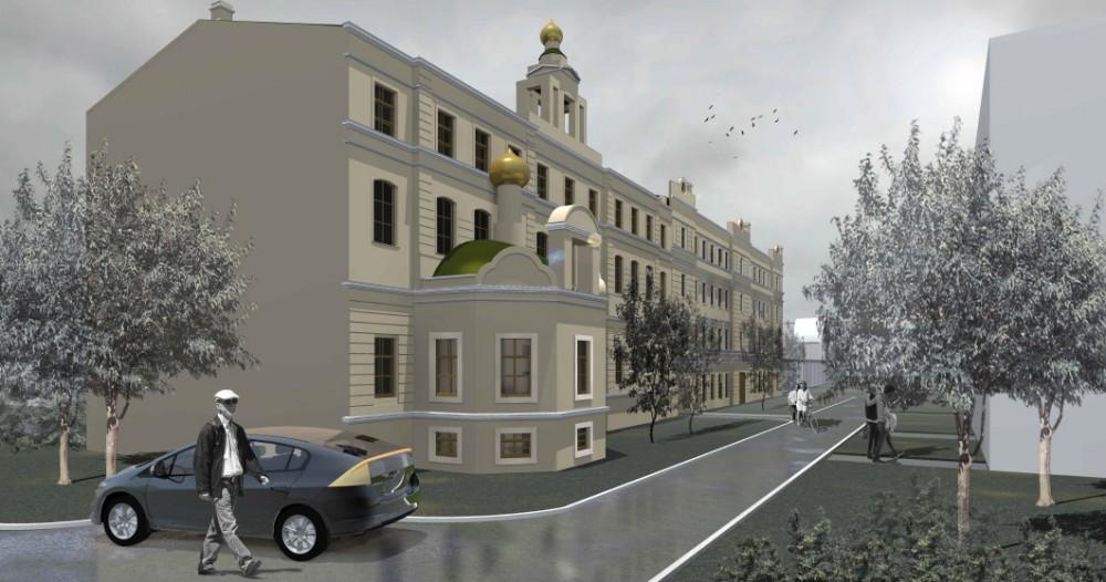 Кронштадт, улица Фейгина, 7-9, проект восстановления Дома трудолюбия