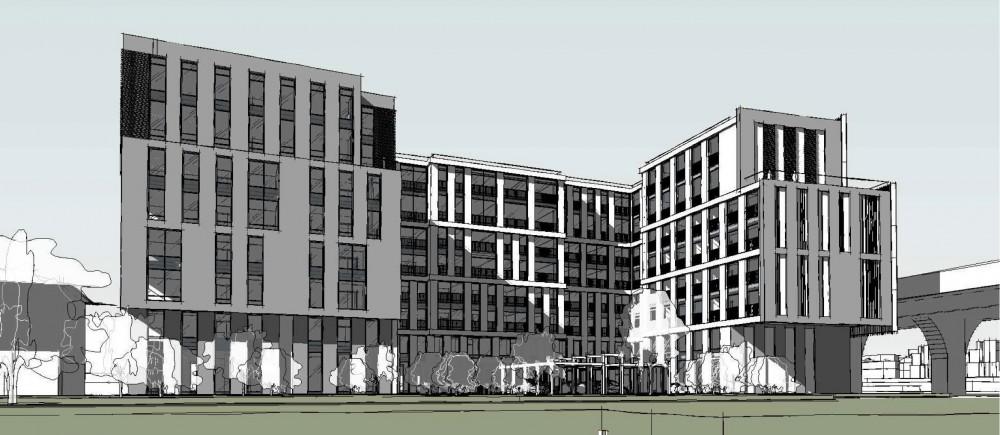 Петровский проспект, 20, корпус 4, проект жилого дома, фасад на Малой Неве
