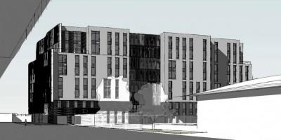 Петровский проспект, 20, корпус 4, проект жилого дома, северный фасад