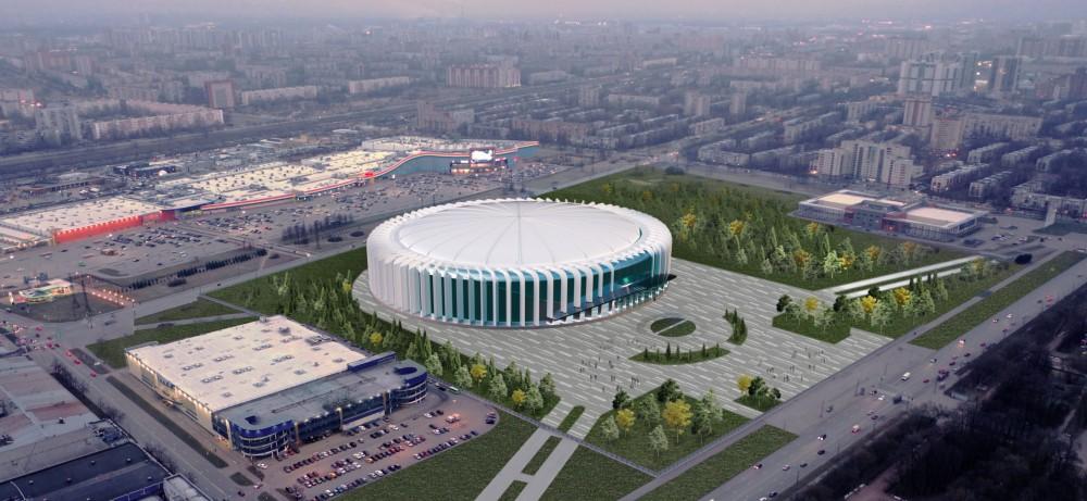 Проект ледовой арены СКА в Петербурге, вид сверху