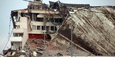 СКК на проспекте Юрия Гагарина после обрушения, кровля