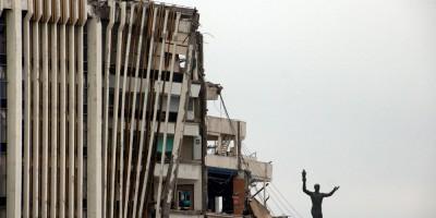 СКК на проспекте Юрия Гагарина после обрушения, скульптура