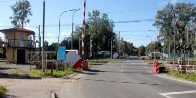 Переезд на улице Первого Мая в Парголове