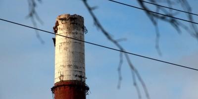 Первомайская ТЭЦ, демонтаж дымовой трубы