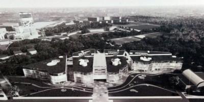 Проект научно-образовательного комплекса Медицинского центра имени Алмазова на Коломяжском проспекте, 25, вид сверху