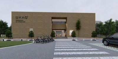 Пискаревский библиотечно-культурный центр, проект, главный вход