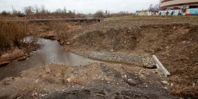 Русановка, ручей впадает в реку Утку
