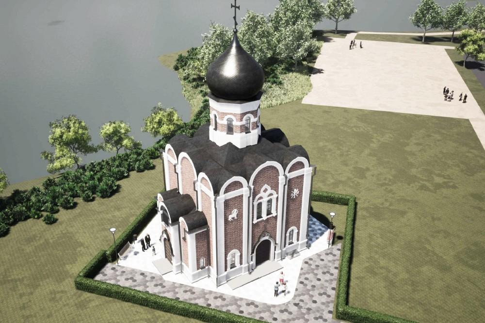 Металлострой, проект церкви Воскресения Христова, вид сверху