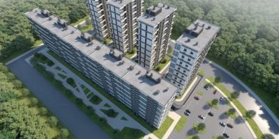 Парфеновская улица, жилой дом, проект, вид сверху