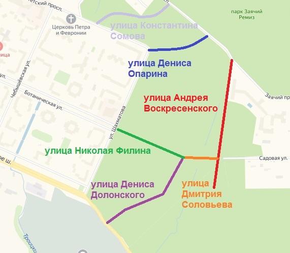 Петергоф, схема улиц