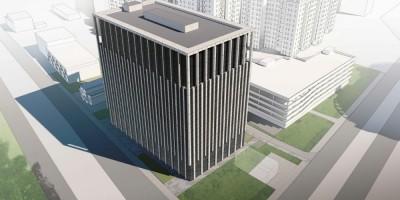 Проект бизнес-центра на углу проспекта Энгельса и Северного