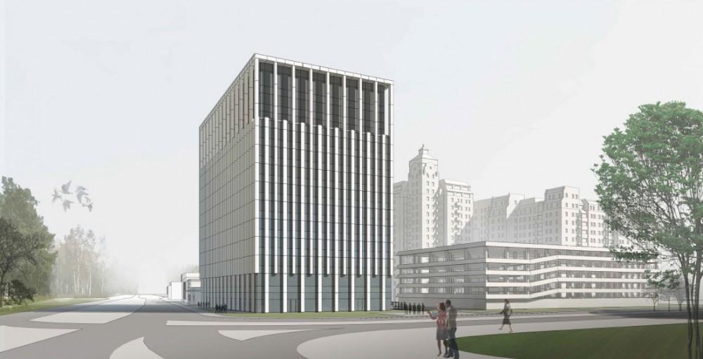 Проект бизнес-центра на углу проспекта Энгельса и Северного, вид