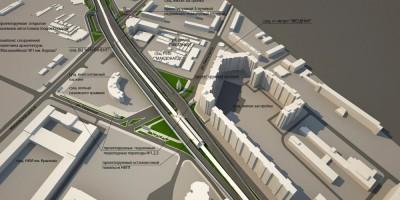 Проект развязки Московского шоссе, Дунайского проспекта и улицы Ленсовета