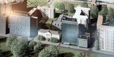 Пулковское шоссе, 32, проект офисного здания, вид сверху