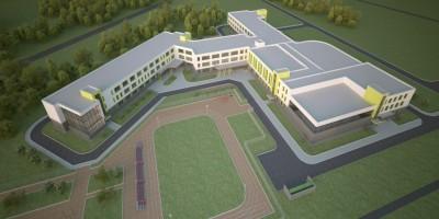 Славянка, школа на углу Промышленной улицы и Колпинского шоссе