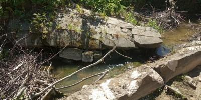 Петергоф, ручей, взорванный мост