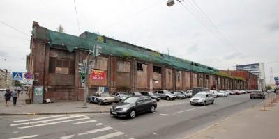 Чугунолитейный цех механического завода Людвиг Нобель на углу Большого Сампсониевского проспекта и улицы Фокина