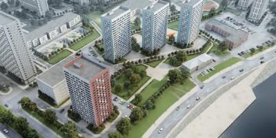 Октябрьская набережная, проект жилого комплекса, вид сверху