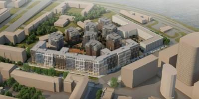 Перевозный переулок, проект жилого комплекса, вид сверху
