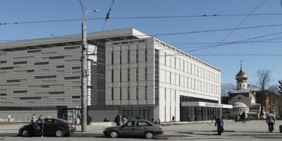 Проект  торгового центра над метро Политехническая. вид сбоку