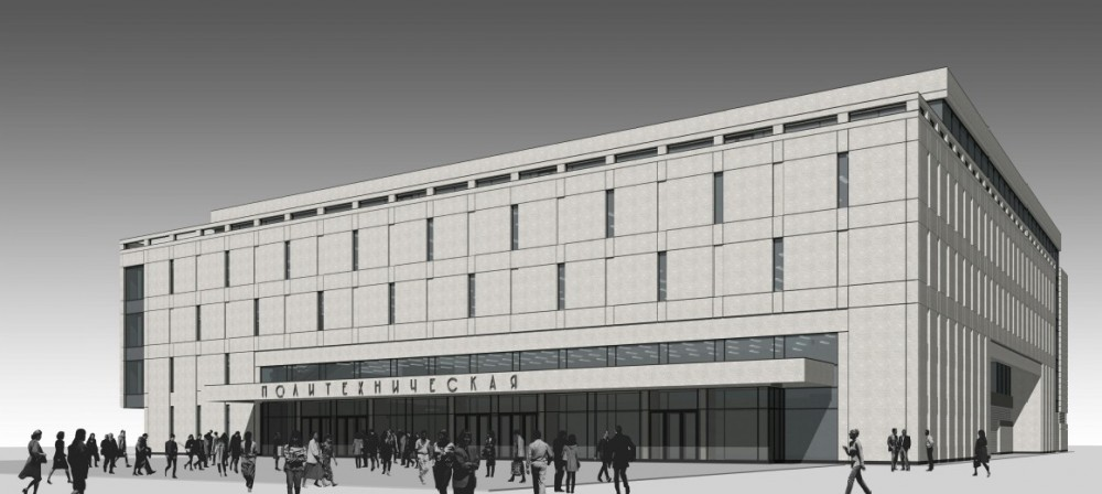 Проект  торгового центра над метро Политехническая
