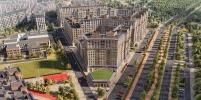 Проспект Авиаконструкторов, проект жилого дома, вид сверху на проспект