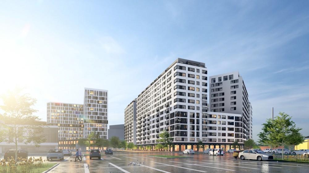 Проспект Энергетиков, проект жилого дома, вид с парковки Окея