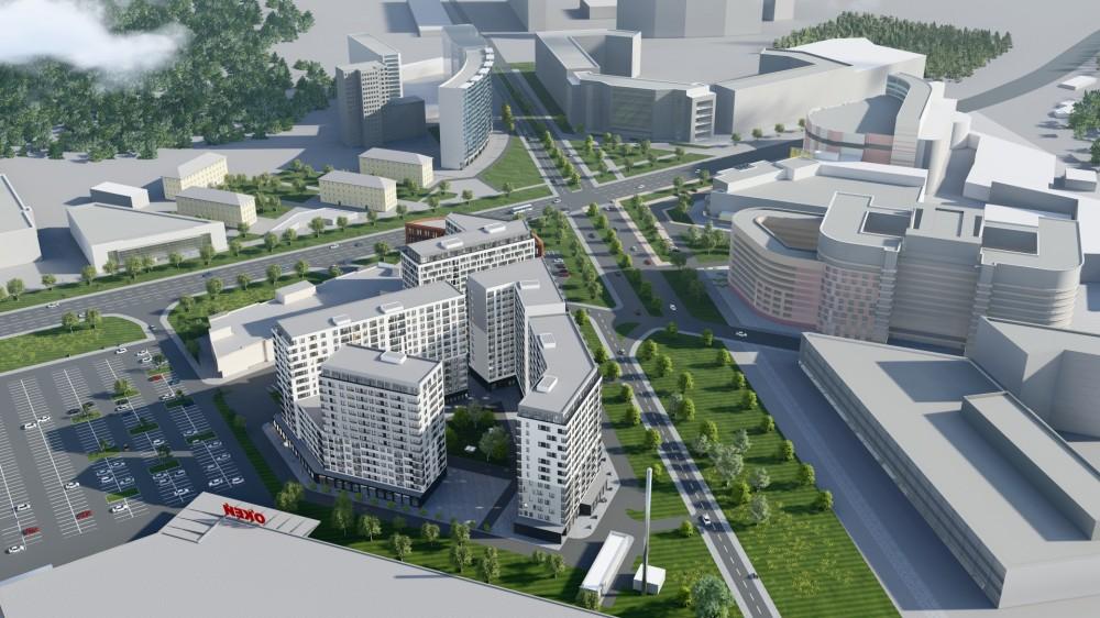 Проспект Энергетиков, проект жилого дома, вид сверху