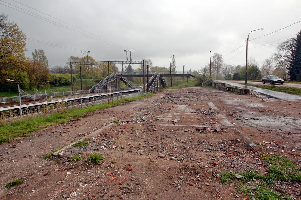 Станция Мартышкино в Ломоносове после сноса
