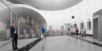 Станция метро Парк Победы, интерьер