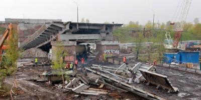 Ташкентский путепровод после обрушения, пролеты