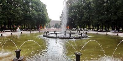 Фонтан Слава в Московском парке Победы