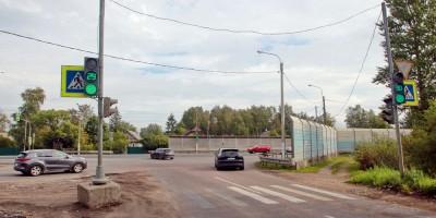 Ям-Ижора, перекресток Ленинградской, Павловской и Пушкинской улиц