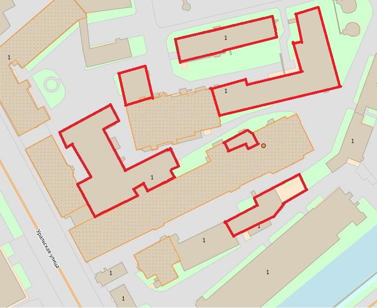 Схема Уральской улицы