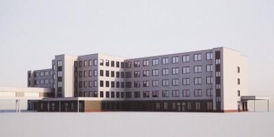 Госпиталь для ветеранов войн на Народной улице, проект нового корпуса