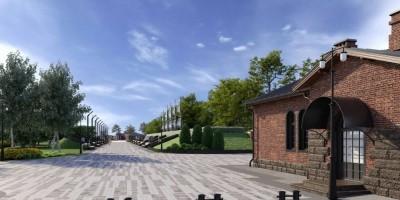 Кронштадт, Цитадельское шоссе, проект парка, аллея